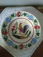 Antik  kakasos apátfalvi tányér, falitányér