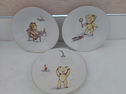 Kahla jelzett mesejelenetes gyermek tányérok