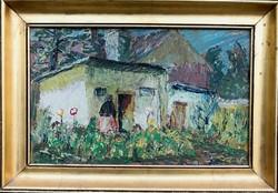 Szentiványi Lajos festőművész – A kertben című festménye – 192.
