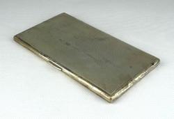 1E568 Régi nagyméretű ezüst cigaretta tárca dózni 195g
