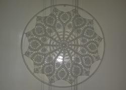 Crochet lace - window decoration