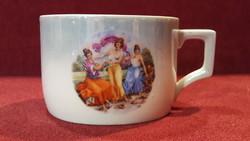 Zsolnay antik jelenetes csésze