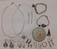 Vegyes ezüst csomag (hordható, és sérült darabokkal) FOGLALT Kata részére!!!