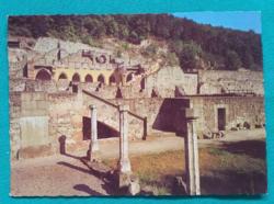 Magyarország,Visegrád, Mátyás király palotája,postatisza képeslap,1980