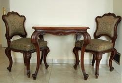 Neobarokk asztal székekkel