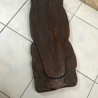 Faragott fa agancs tartó 55×23 cm.