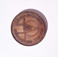 1990 Magyar Műlencse Implantációs társaság I. kongresszus, bronz plakett