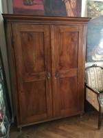 Ékes bieder 1800 körüli 2 ajtós, akasztós, polcozható szekrény MOST 8 e. Ft