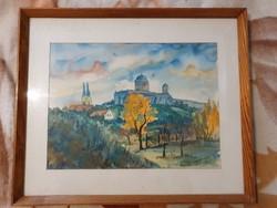 Szép kvalitásos akvarellkép eladó