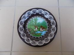 Extrém ritka Gránit falitányér fali tányér 24 cm (n)