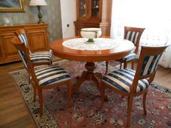 Olasz Selva étkező, ebédlő garnitúra asztala +4 szék, asztal