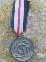 Harmadik Birodalmi, S. S. 8 év szolgálati kitüntetés, szalagon
