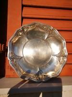 Szecessziós kínáló tál WMF alpakka szőlő motívum .Wiener Manufaktúra Bécs ,régi design darab.