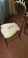 Barok réz fésülködő asztal szék