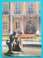 Magyarország,Fertőd,szökőkút,használt képeslap,1978