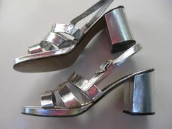 Retro ezüst szandál 40-es Made in Italy