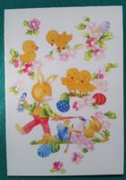 Húsvéti,kinyithatós levelezőlap,használt képeslap