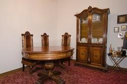 Antique Spanish bar living room dining set 6 pieces