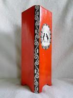 Kb. 100 éves, árnyképes jelzett  nagy porcelán váza  26,5 cm
