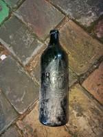 Budafoki Palackozó Vállalat, üveg palack, 1 liter, igencsak hasznàlt
