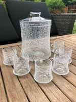 Pazar osztrák repesztett kristály üveg bólés készlet