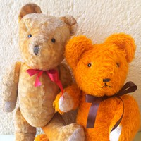 Retro! Yellow teddy bear, teddy bear (2 pieces) are not small!