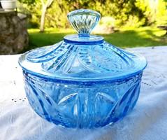 Hatalmas kék üveg bonbonier