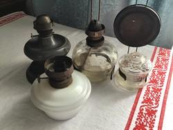 Kis petróleum lámpák