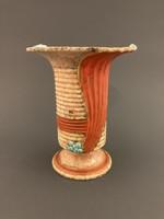 Jelzett Osztrák majolika váza 1930-as évek