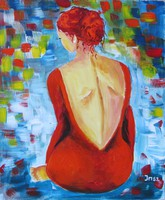 B.Tóth iris-abstract- painting auction!