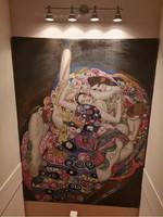 Óriási Gustav Klimt olaj festmény 240 x 175 cm