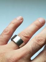 Férfi acél gyűrű