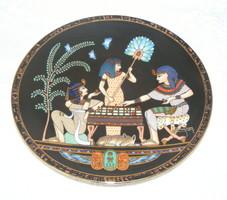 Egyiptomi jelzett porcelán falitányér