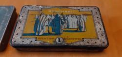 Két csodaszép, extra régi fém cigaretta tartó doboz egyben - magyar és arab!