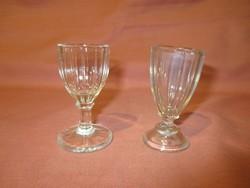 2 db régi pálinkás-likőrös üveg pohár