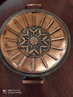 Retró bronz színű tál
