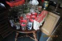 49 db-os coca-cola pohár gyűjtemény