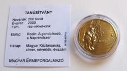 2000. évforduló - Millennium 200 Ft - BU - Kapszulában, certivel