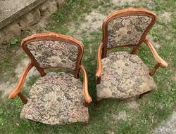 Karos karfás szék pár neobarokk