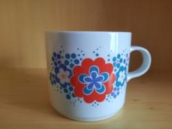 Retro, Alföldi porcelán bögre virág mintákkal. 1500.-Ft