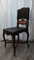 Bécsi barokk bőr szék (5db)