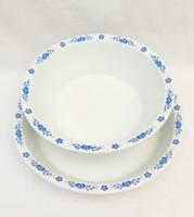 Alföldi porcelán  kék magyaros főzelékestányér és gulyásostányér