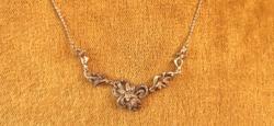 925-Ös ezüst collier nyaklánc markazitos díszítéssel