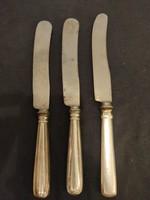 3 db antik kés 800-as jelzéssel
