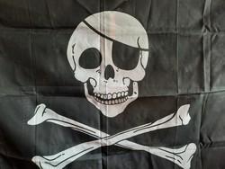 Kalóz zászló 150x90 cm.  2500.-Ft