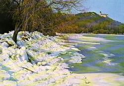 Ba 075 Színes körkép a Balaton vidékról a XX.század közepén . Tihany télen