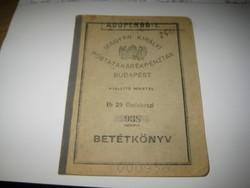 Magyar Királyi Posta Takarék betétkönyv  1946