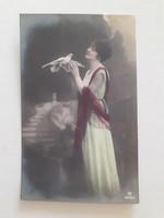 Régi képeslap 1917 galambos női fotó levelezőlap
