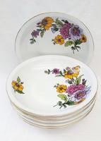 Ritka alföldi porcelán  tányérok 6 db