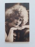 Régi képeslap 1927 női fotó levelezőlap